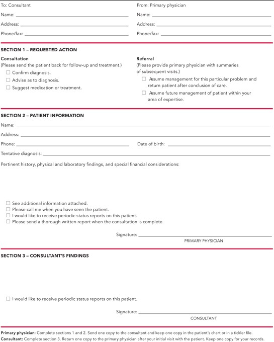 Medical Consultation Form Template free