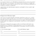 Power of Attorney Template Health Care