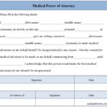 free medical power of attorney