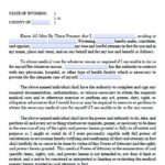 wyoming medical power of attorney form
