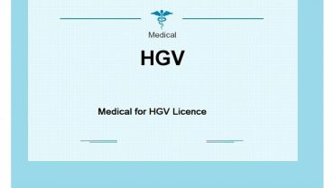 Sample Medical for HGV Licence