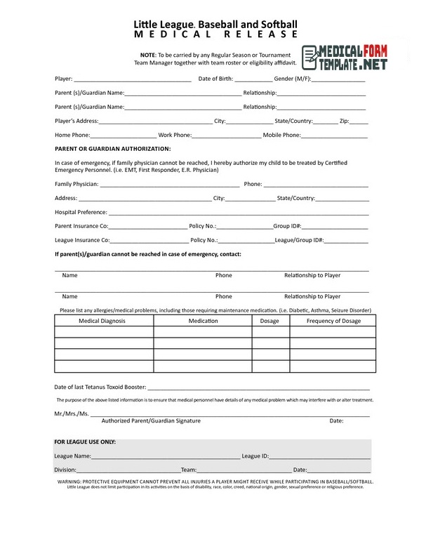 free printable medical forms 04