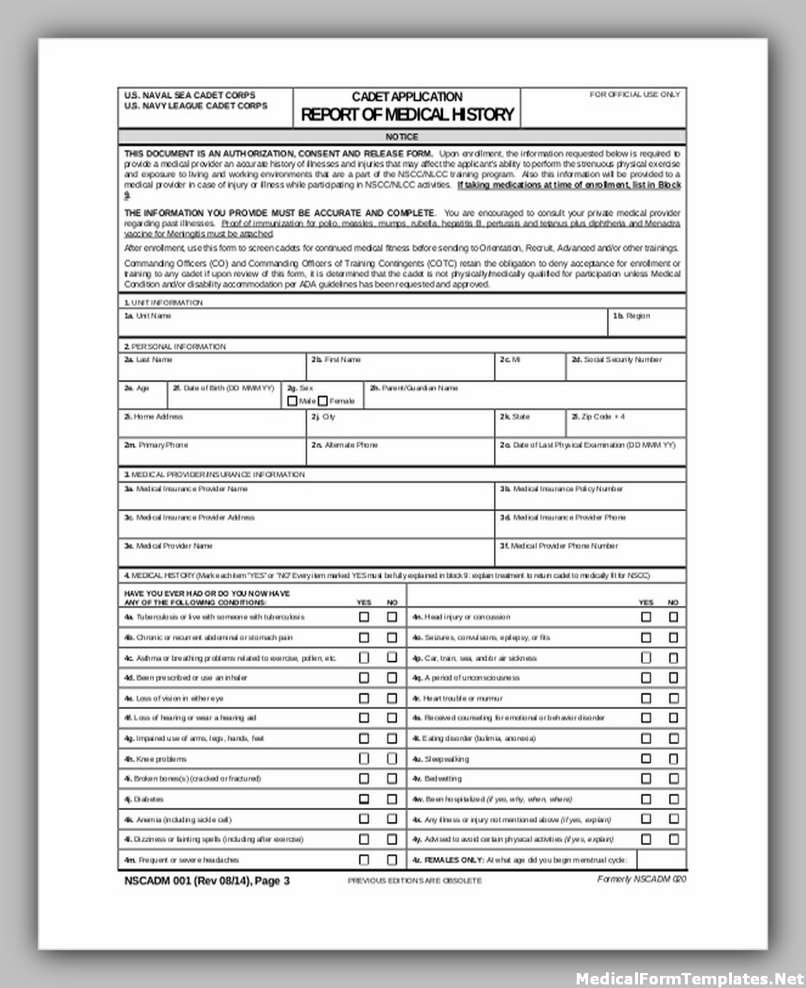 Navy medical record request form