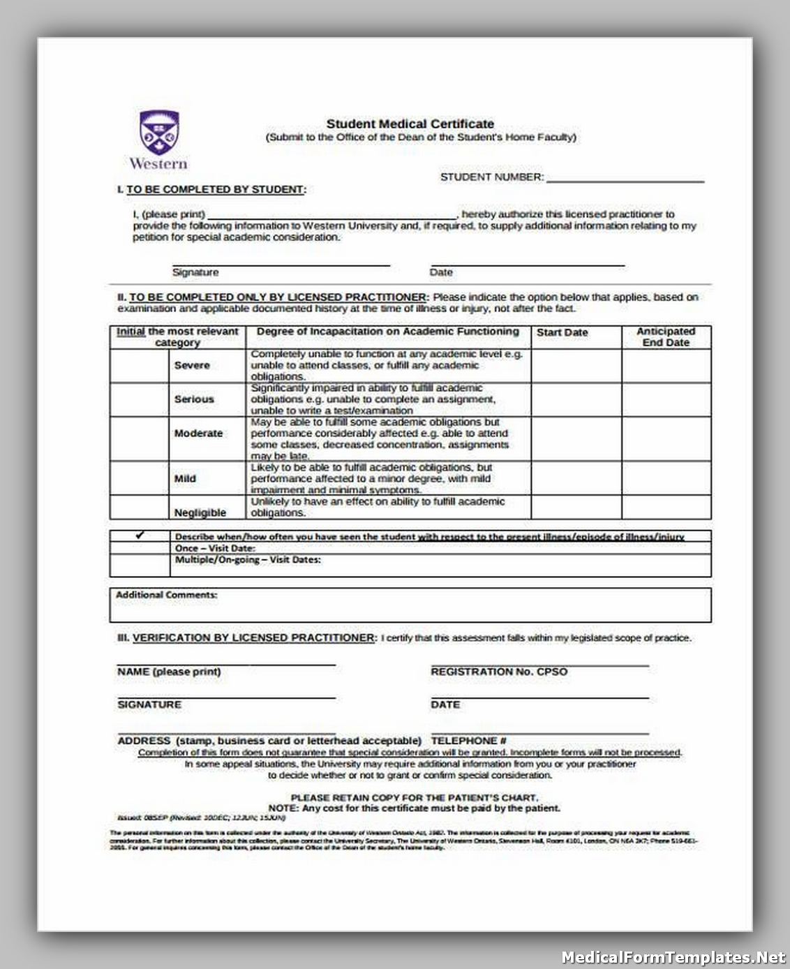 Student Medical Certificate Form1