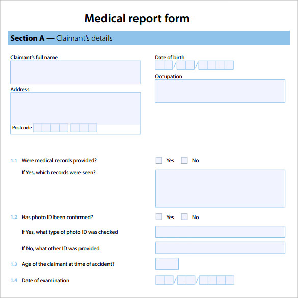 Medical Report Template in PDF