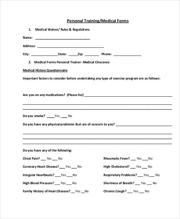 Sample Medical Form 10+ Examples in Word, PDF