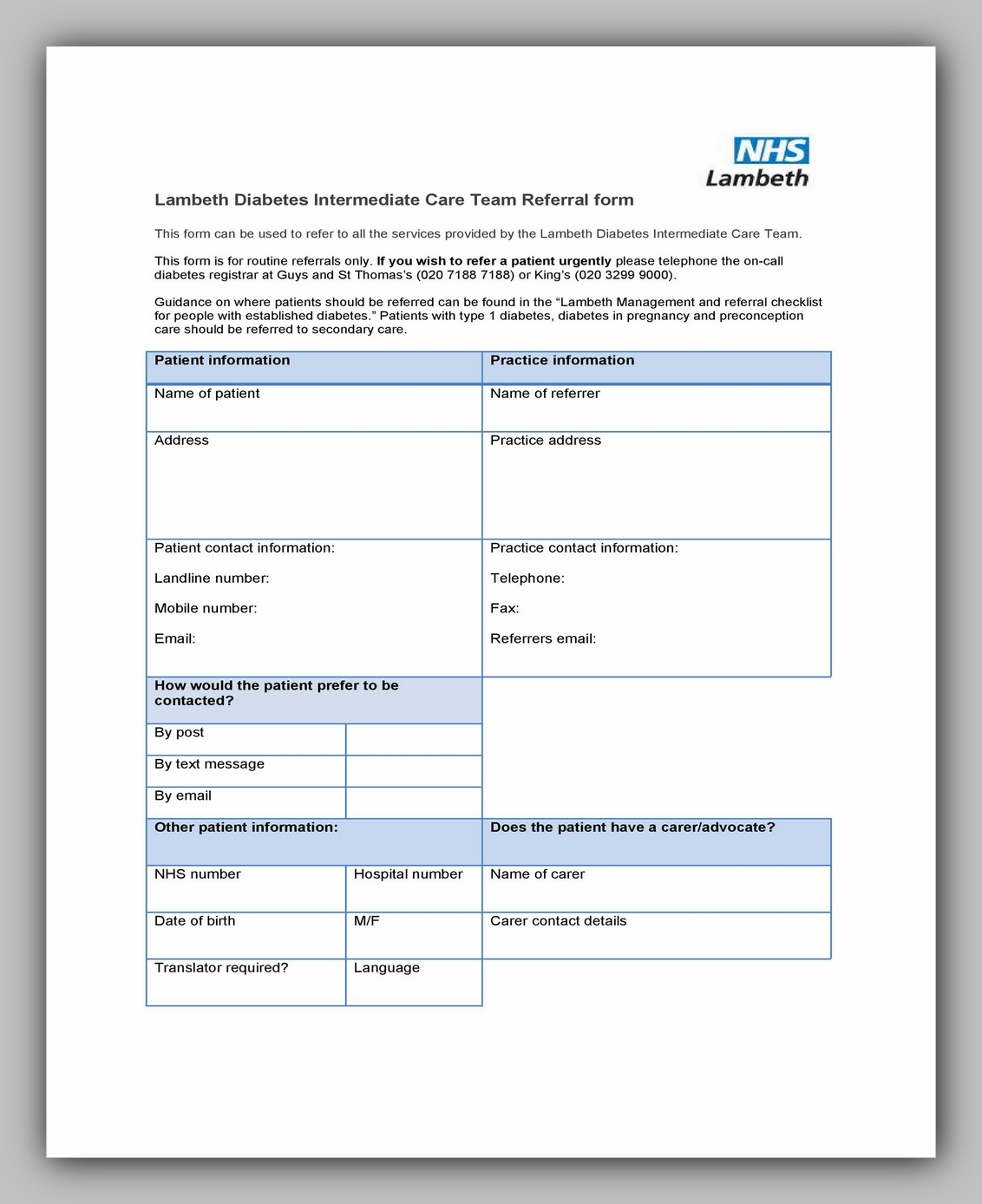Medical Referral Form Template 01