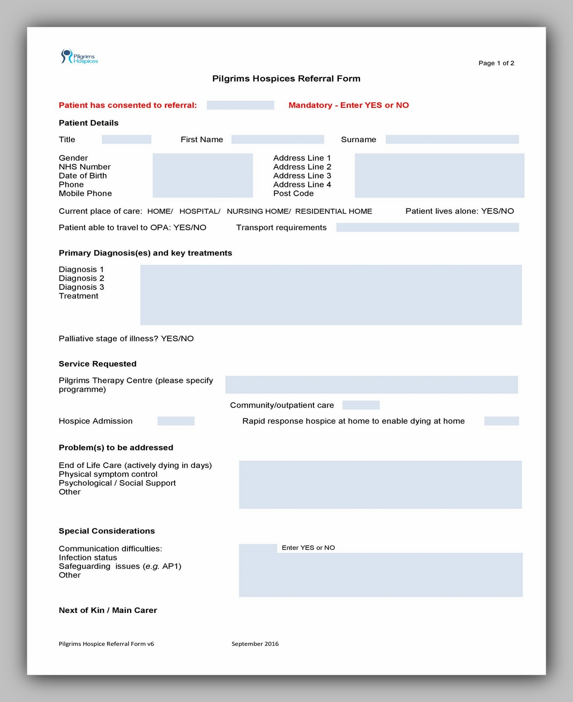 Medical Referral Form Template 02