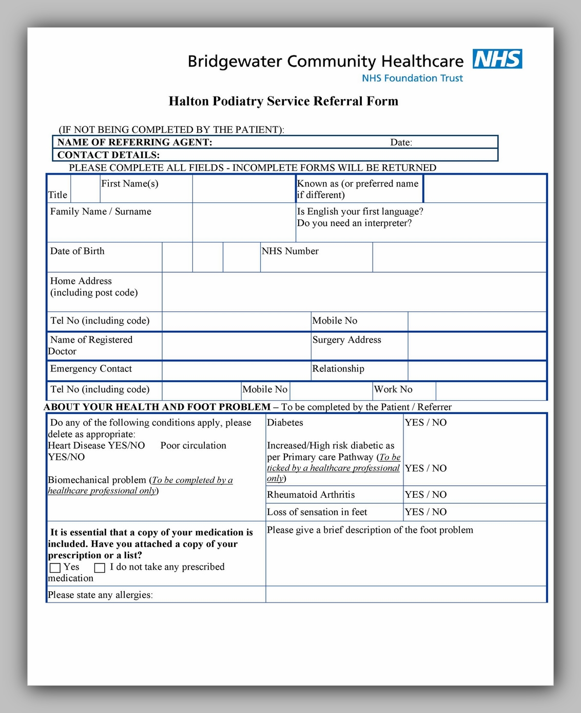 Medical Referral Form Template 09