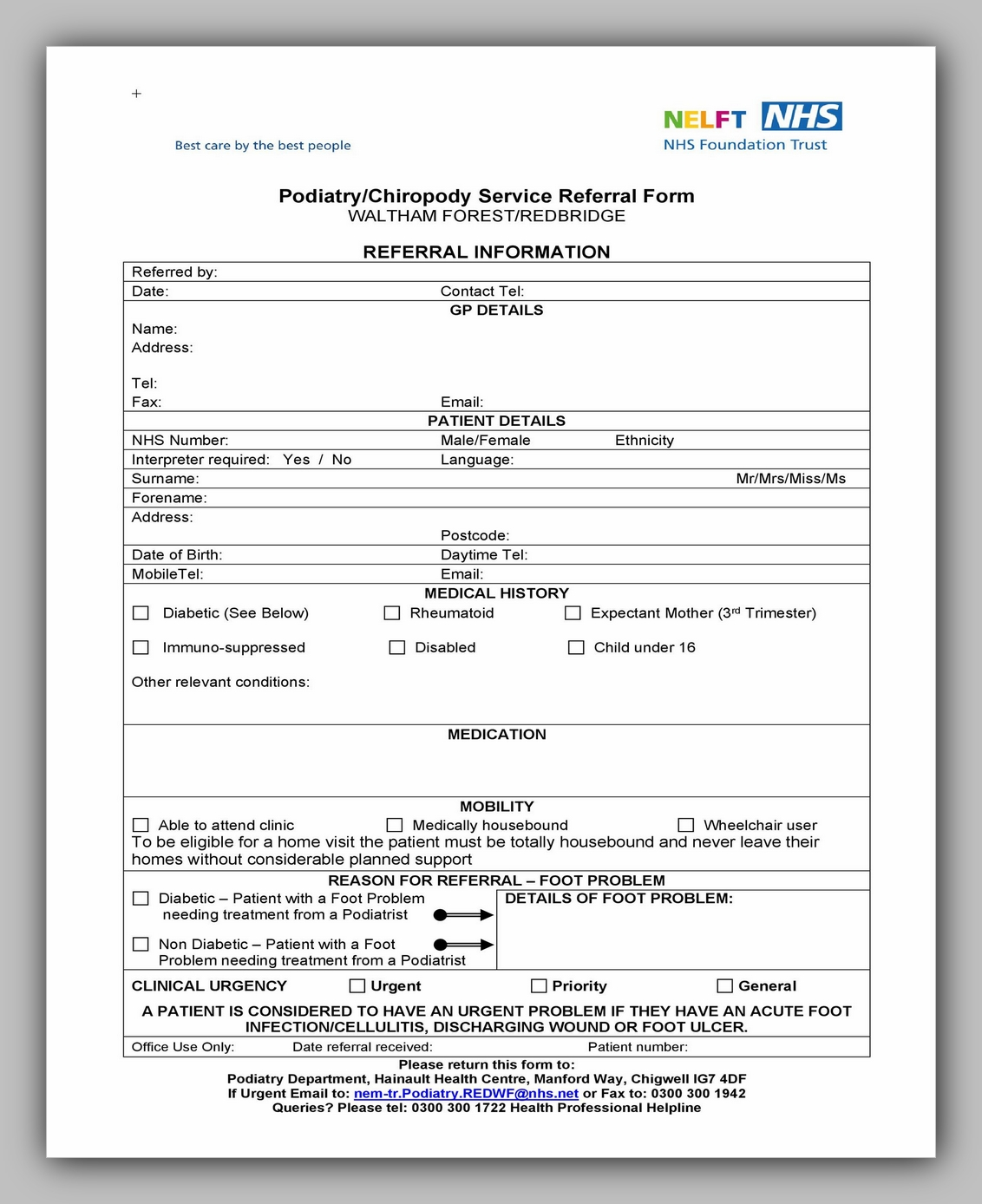 Medical Referral Form Template 10