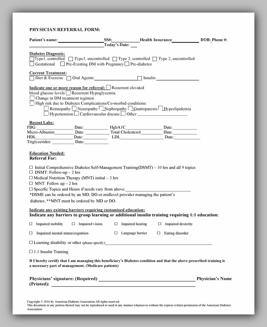 Medical Referral Form Template 14