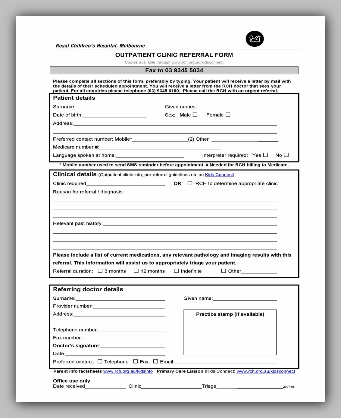 Medical Referral Form Template 20