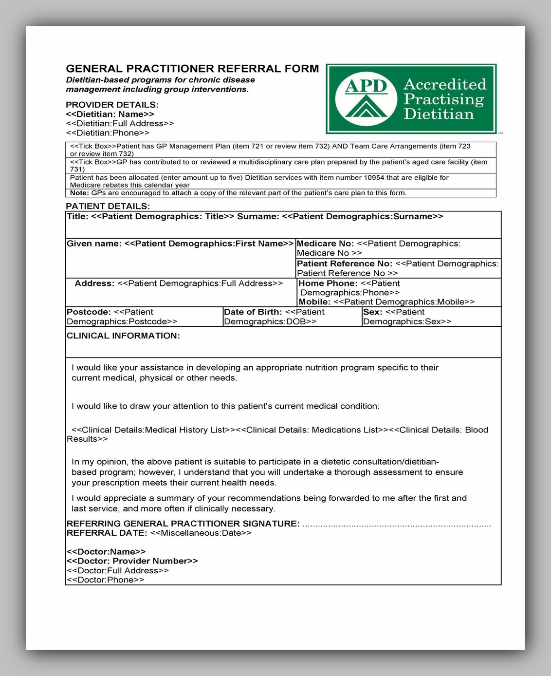 Medical Referral Form Template 21
