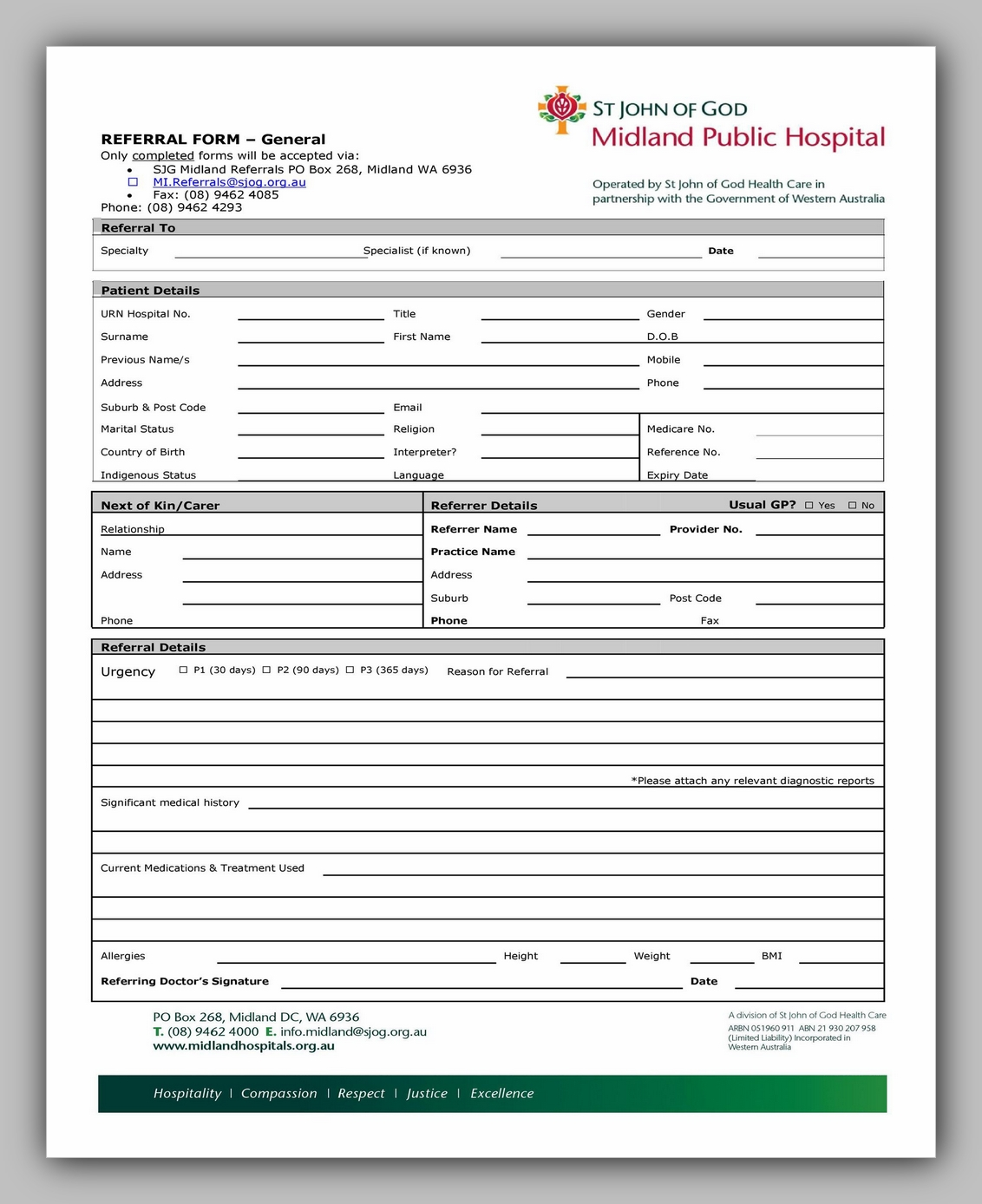 Medical Referral Form Template 22
