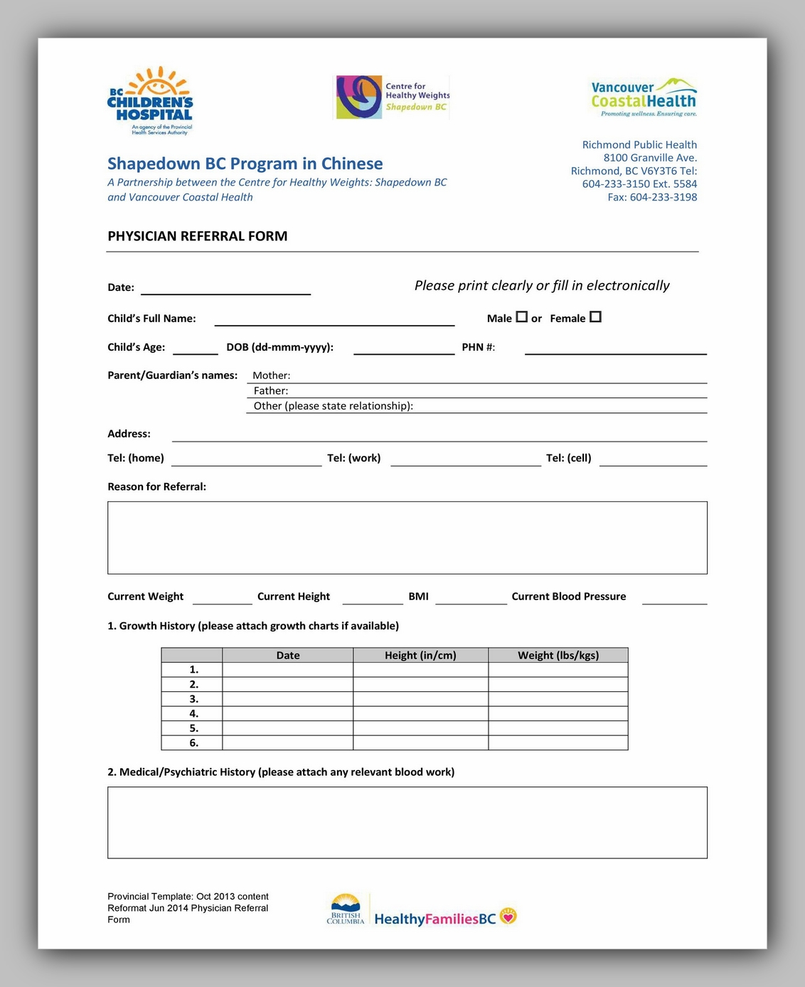 Medical Referral Form Template 26