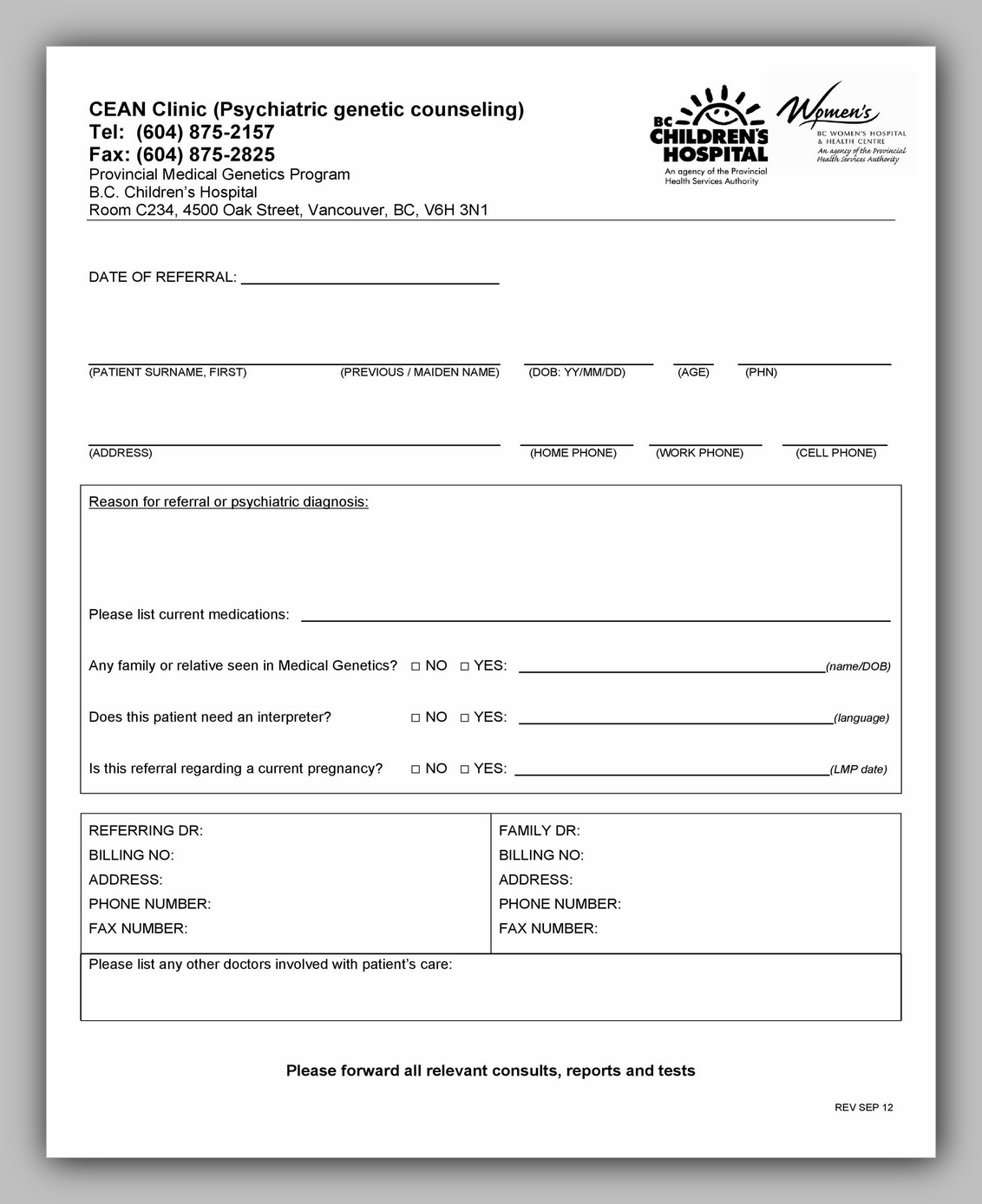 Medical Referral Form Template 27
