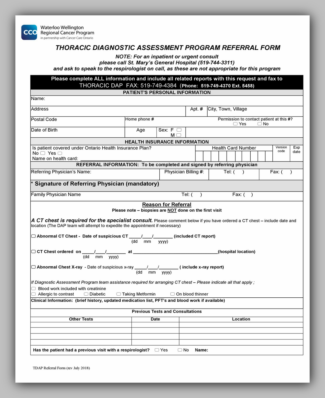 Medical Referral Form Template 33