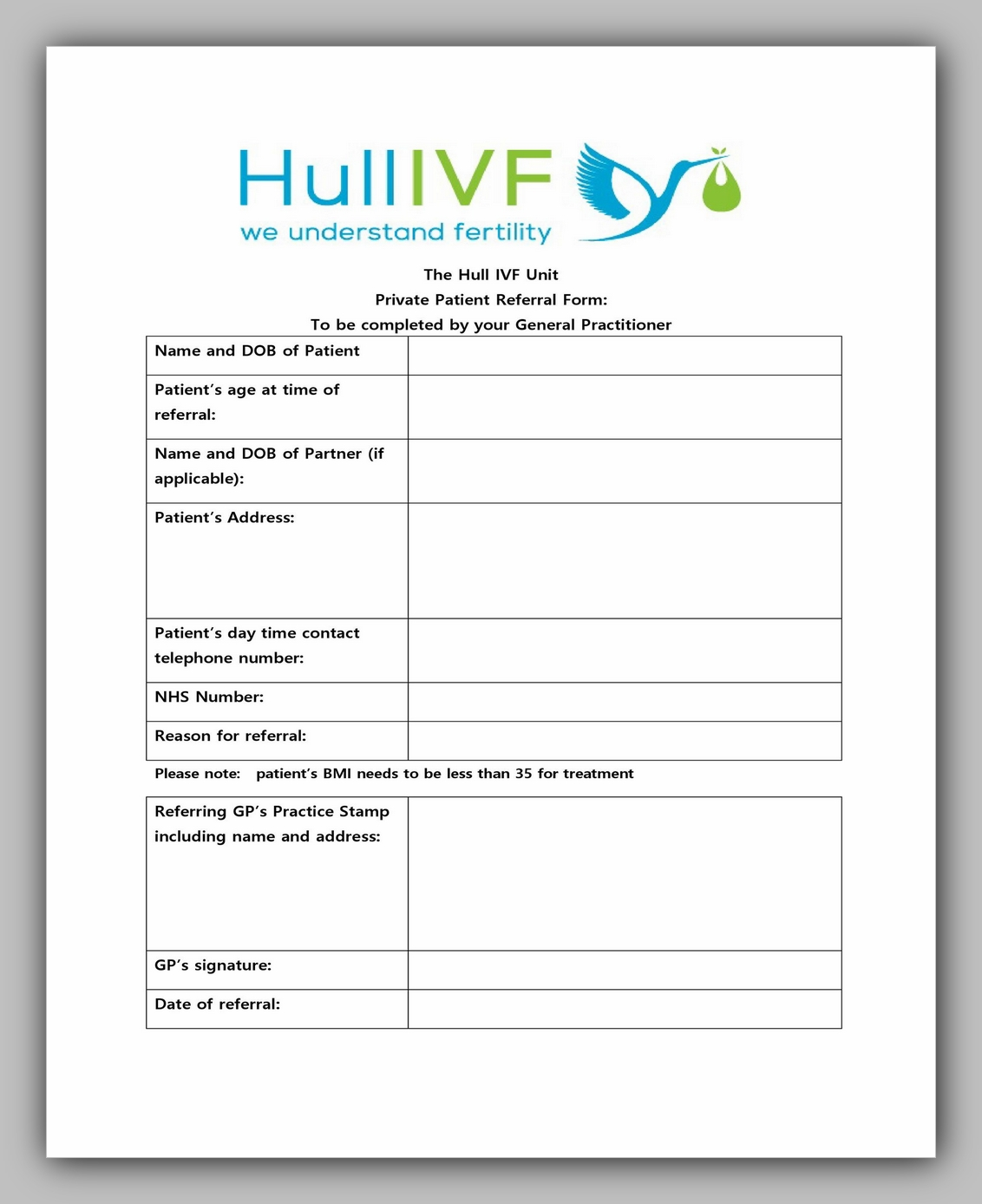 Medical Referral Form Template 37