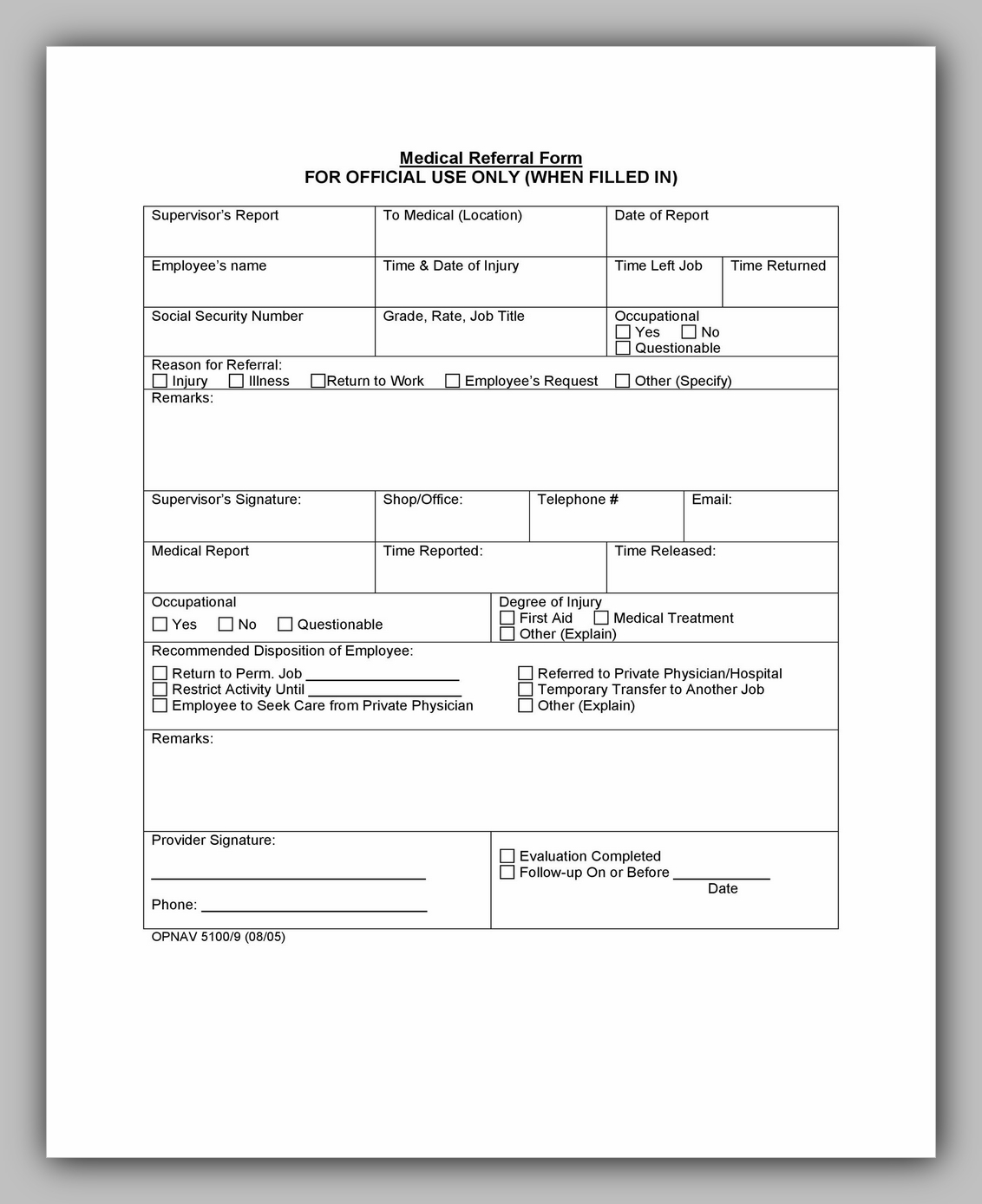 Medical Referral Form Template 40